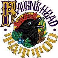 Raven's Head Tattoo