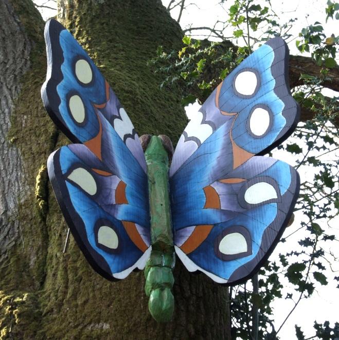 Butterfly Playground Garden Sculpture Schools Playtime