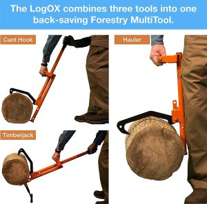 LogOX_3-in-1_Timberjack_Log_Jack_Holder_&_Cant_Hook_Forestry_Tool