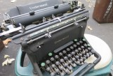Several antique typewriters came out, providing severe temptation for this reporter.