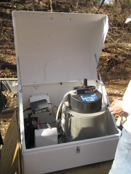 Water quality sampling equipment.