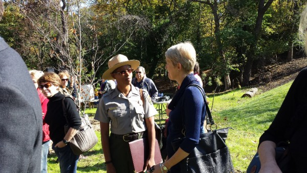 Tara Morrison, superintendent of Rock Creek Park, NPS; and Sabine Ohare, dean of CAUSES at UDC
