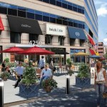 The concrete plaza at 4250 Connecticut subject of 10/16 community meeting