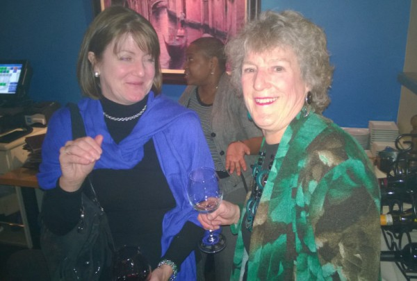 Denise Warner, president of the Forest Hills Citizens Association, and ANC 3F Commissioner Sally Gresham. (photo by Mary Beth Ray)