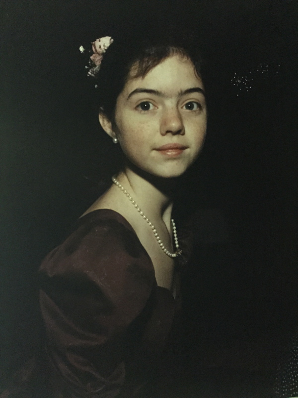Beverly Rezneck girl with pearls
