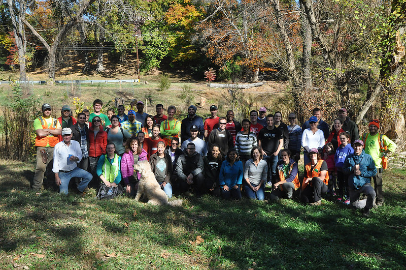 Just some of the volunteers who helped plant trees and shrubs during the Nov. 5th event.