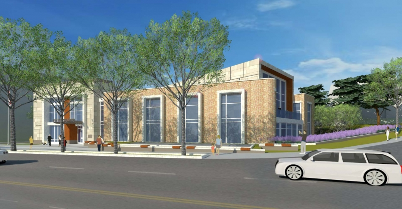 A rendering of the new Cleveland Park Library, scheduled for completion spring 2018.