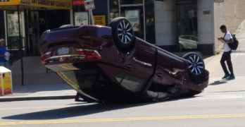 Conflicting accounts on cause of May 24 Connecticut Ave. crash and overturned vehicle