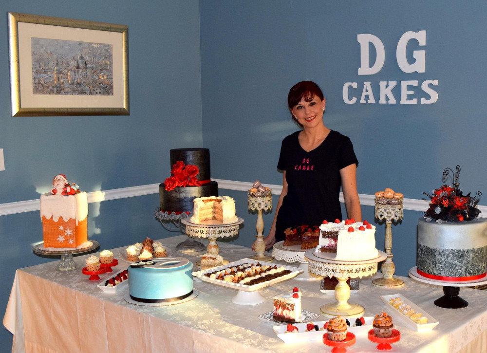 """My cakes and sweets follow my customers from their childhood birthdays and college graduations to their weddings and important anniversaries,"" Dijana Zaric says. (Photos courtesy of Zaric and DG Cakes)"
