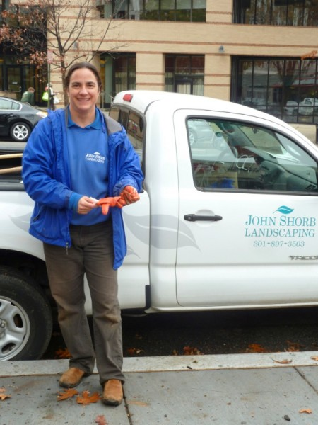 """Alex McCarty at the """"Daffodils for Dad"""" planting in November."""