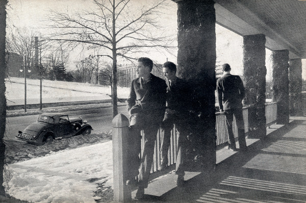 Devitt boys on porch, from the 1939-1940 Devitt School Catalog (Source: Martin Luther King Jr. Memorial Library)