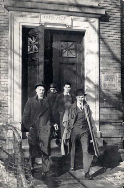 Devitt boys coming out of Todd Hall, from the 1939-1940 Devitt School Catalog (Source: Martin Luther King Jr. Memorial Library)
