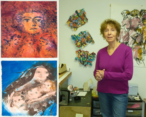 Dorothy Fall and some of her work.