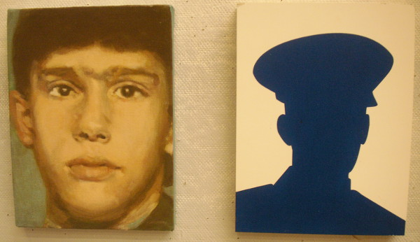 "A portrait from ""Faces of the Fallen."" and a placeholder."