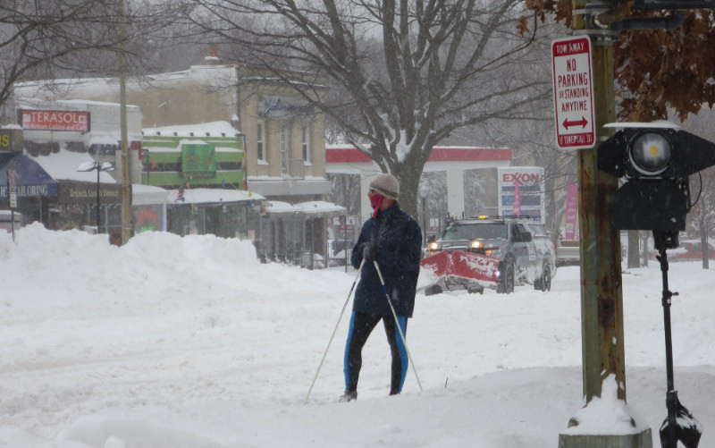 Cross-country skier on Connecticut