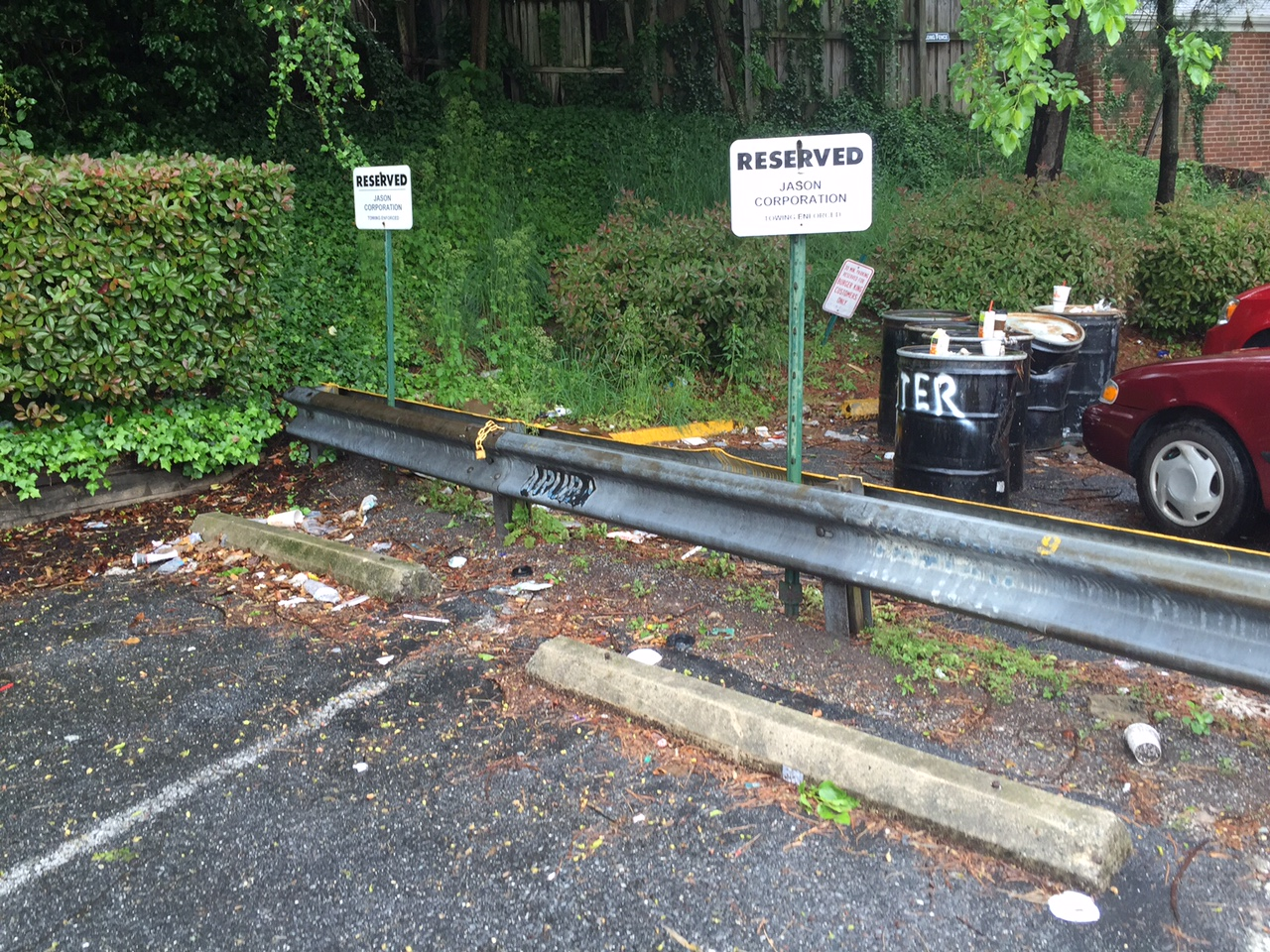 Commissioners Sally Gresham and Mary Beth Ray also pointed out the trash littering the parking area.