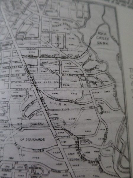 A 1929 map marks the Forest Hills Citizens Association boundary with a dotted line. (Image from Forest Hills, p. 93)