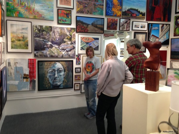 Karin's first solo exhibition, 2011, in Stockholm.