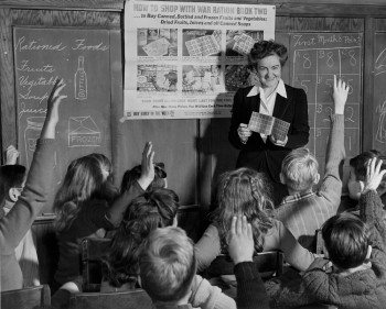 A Murch classroom in 1943. (photo from the National Archives online, Franklin D. Roosevelt Library Public Domain Photographs, 1882-1962)