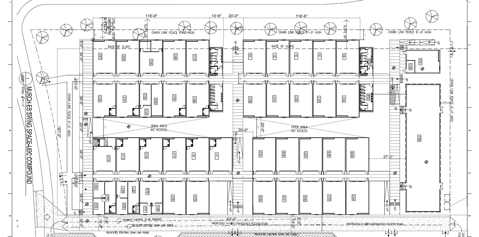 The trailers layout. Find the latest Murch swing space plans at dc.dgs.gov.