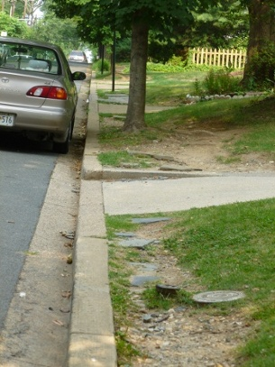 There was no sidewalk on this side of Albemarle until 2013, but that did not stop pedestrians.