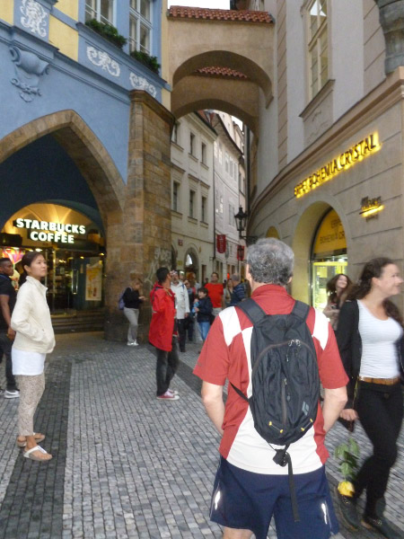 Pedestrian street in the Old Town.