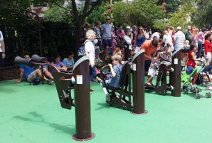 Members of the community requested adult fitness equipment. The Palisades playground got these workout machines during its 2013 renovation.