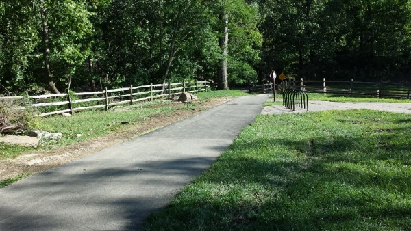 Path by Peirce Mill.