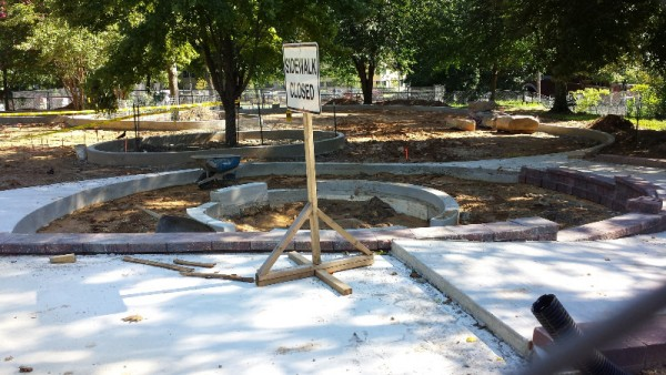Forest Hills playground taking shape.