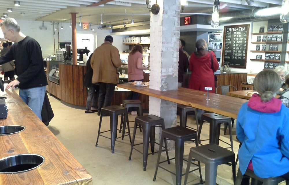 Customers can order food and drink during The Den's soft opening. (photo by Marlene Berlin)