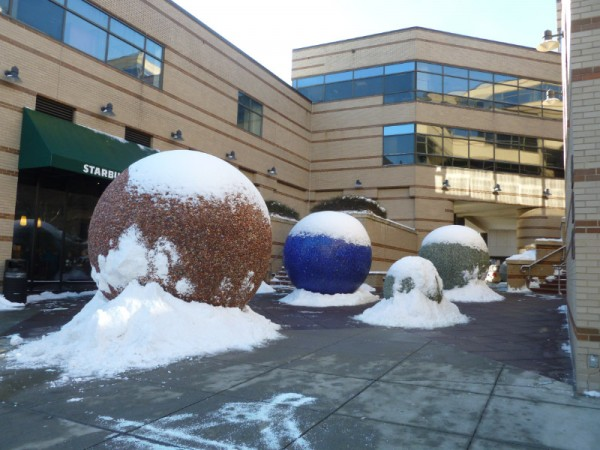 Spheres clothed in Snow