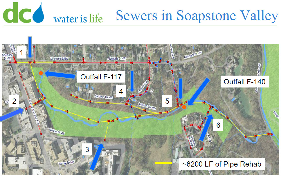 Soapstone sewer map DC Water