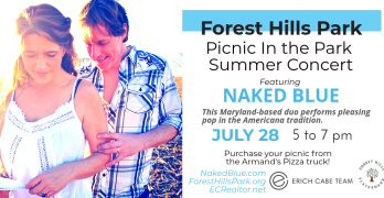 "Forest Hills July 28 ""Picnic in the Park"" concert features Americana/pop duo Naked Blue"