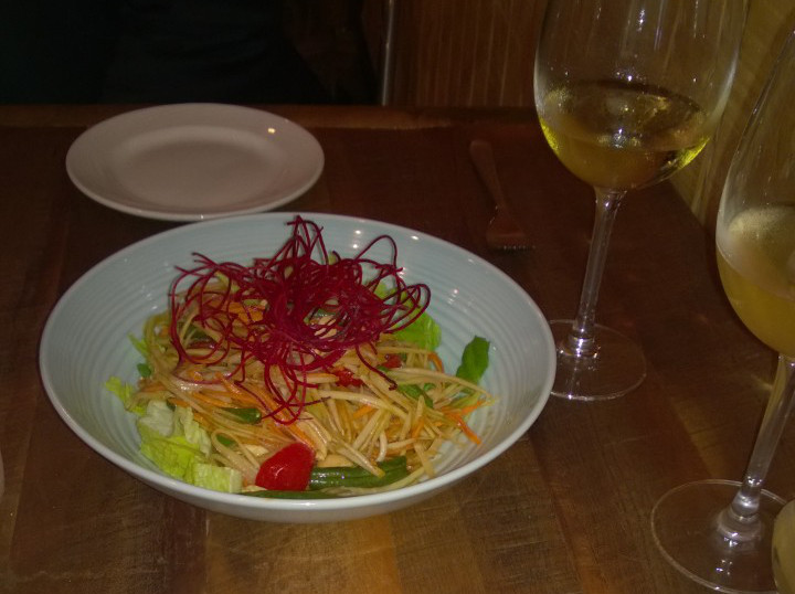 Thai Pad's papaya salad.