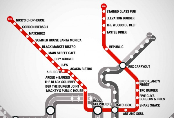 Thrillist burger red line metro map acacia