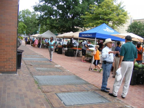 The UDC farmers market.