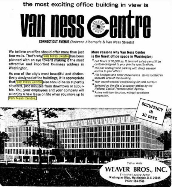 This Evening Star ad, two years later, was seeking office tenants. (Jan. 29, 1967, p. 18)