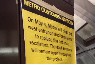 Van Ness Metro entrance signs crop
