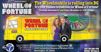 Wheel of Fortune tryouts in the neighborhood Nov. 2-3