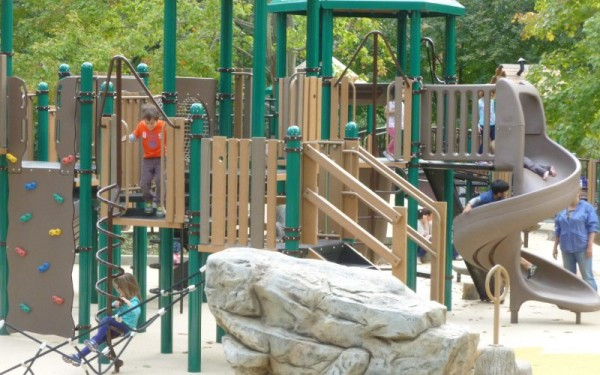 Forest Hills playground, shortly after it reopened last October.