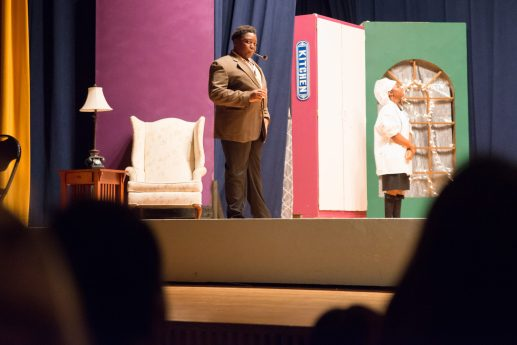 """Proviso East students Janaree Taylor, left, and KaiIsis Brown performed in the school's production of """"Clue: On Stage"""" on Nov. 14, 15 and 16. 