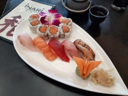 Chef's Selection: A lunch special at Inari features spicy tuna maki and albacore tuna, yellow tail, tuna, salmon and snapper nigiri for just 5. (Photo credit Melissa Elsmo)