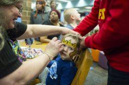 Guests enjoy face-painting. | Alex Rogals/Staff Photographer