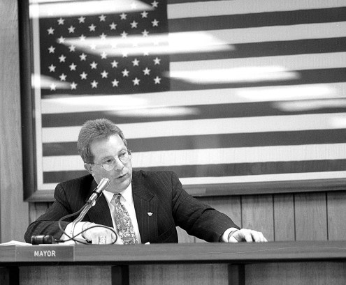 Tony Calderone picked up the gavel for the first time as mayor of Forest Park in April 1999. He served as mayor for 20 years. | File photo