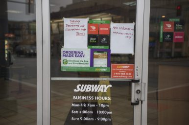 Subway, 7328 Madison St., is providing take-out service only after all restaurants in Illinois were restricted from providing dine-in service last week. | Alex Rogals, Staff Photographer