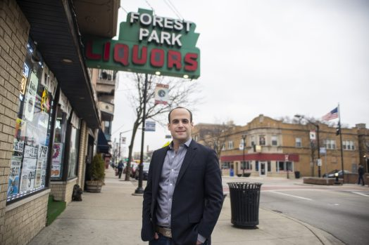 Mike Cardozo, CEO and founder of Karuna, hopes to get licensed by the state and open shop in Forest Park. Cardozo believes strongly in the social equity component of cannabis laws in Illinois. | Alex Rogals, Staff Photographer