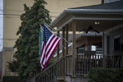 Forest Park residents flying the American flag. | Alex Rogals, Staff Photographer
