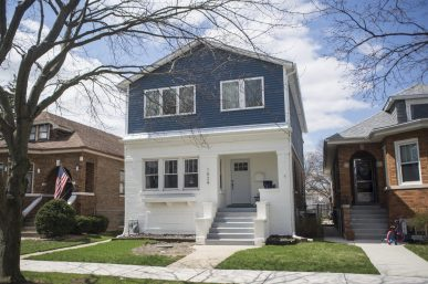"""Two homes on Marengo Avenue were rehabbed as part of a reality television show, """"The Deed: Chicago"""" on an episode titled """"The Bungalow Kings.""""   Alex Rogals, Staff Photographer"""