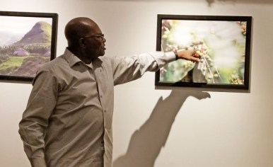 In this 2019 photo, Kribi Coffee owner Jacques Shalo discusses the value chain of coffee.   File photo