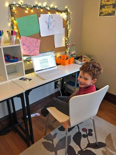 District 91 students, including 1st grader Drew, have started the school year remotely. | Photo provided